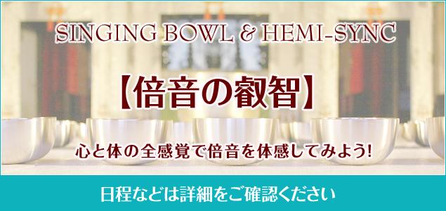 倍音の叡智〜シンギングボウル&ヘミシンク_a0006822_23171343.jpg
