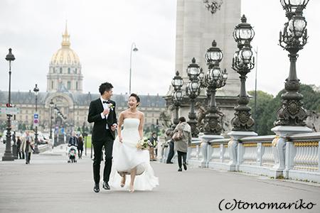 どんなお天気でもよし。パリのウェディングフォトツアー_c0024345_1055376.jpg