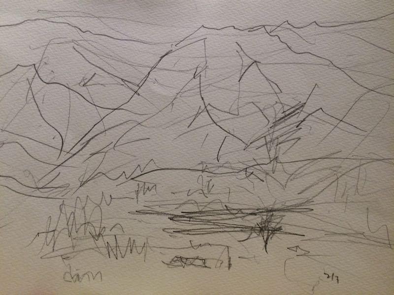 白馬の雪景色(水彩画)、他、水彩画三枚_e0233674_181341100.jpg