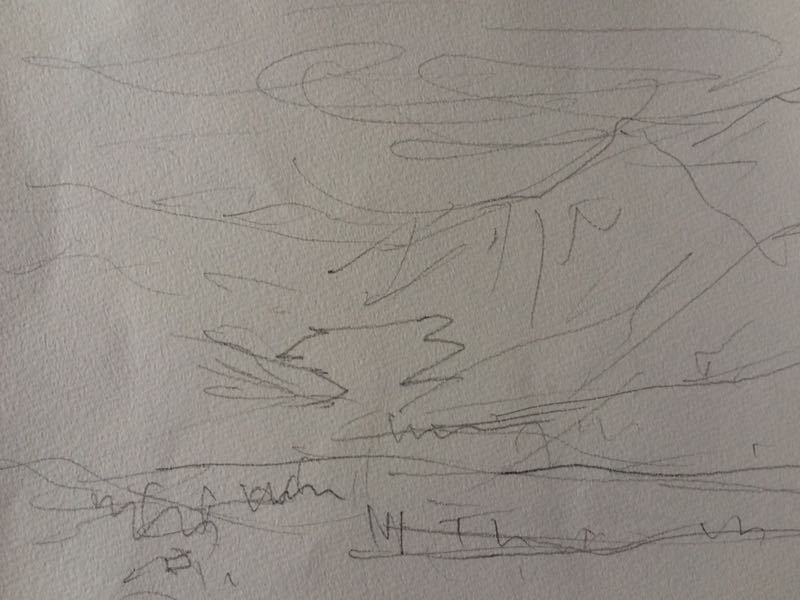 白馬の雪景色(水彩画)、他、水彩画三枚_e0233674_18134325.jpg