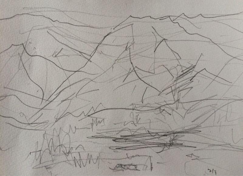 白馬の雪景色(水彩画)、他、水彩画三枚_e0233674_1813462.jpg