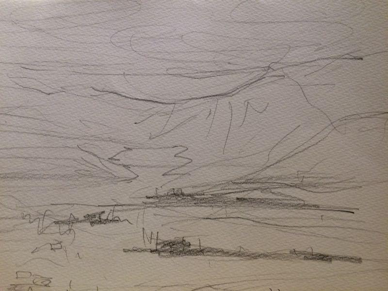白馬の雪景色(水彩画)、他、水彩画三枚_e0233674_18134630.jpg