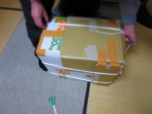 日本からの帰国/中国人風!段ボールスーツケースを試してみました!_c0179785_16501341.jpg