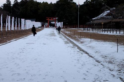 また雪です 上賀茂神社_e0048413_13565752.jpg