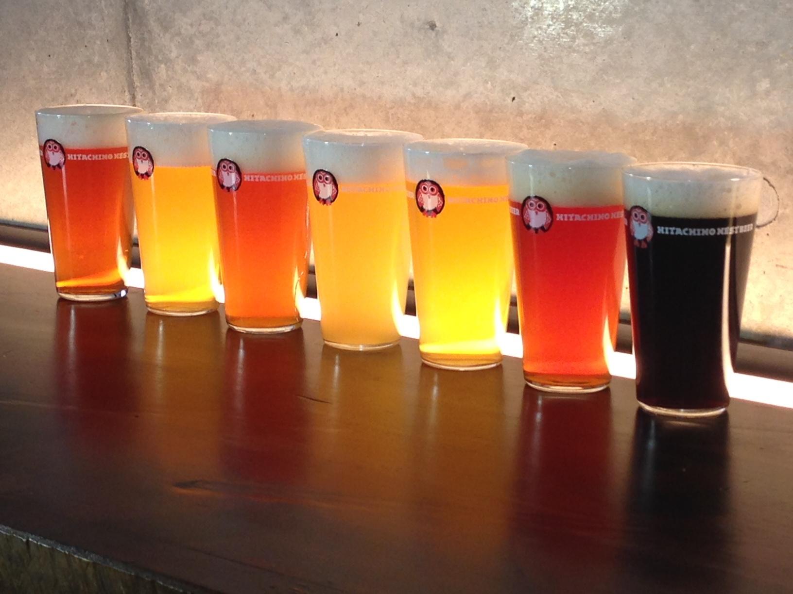 ラボの取材現場にご一緒させていただいてます、ネストさんのビール後光がさしてます✨くうぅ〜飲みたいっ!_c0069047_1545469.jpg