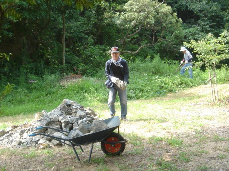 草刈りに頑張っています  in  うみべの森_c0108460_22230968.jpg