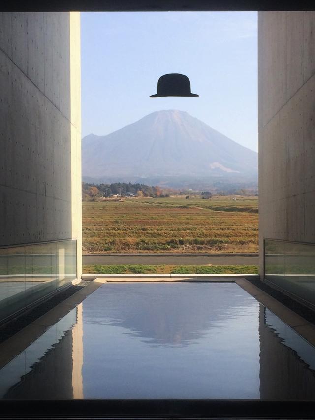 植田正治写真美術館で大山を臨む_e0168781_1254998.jpg