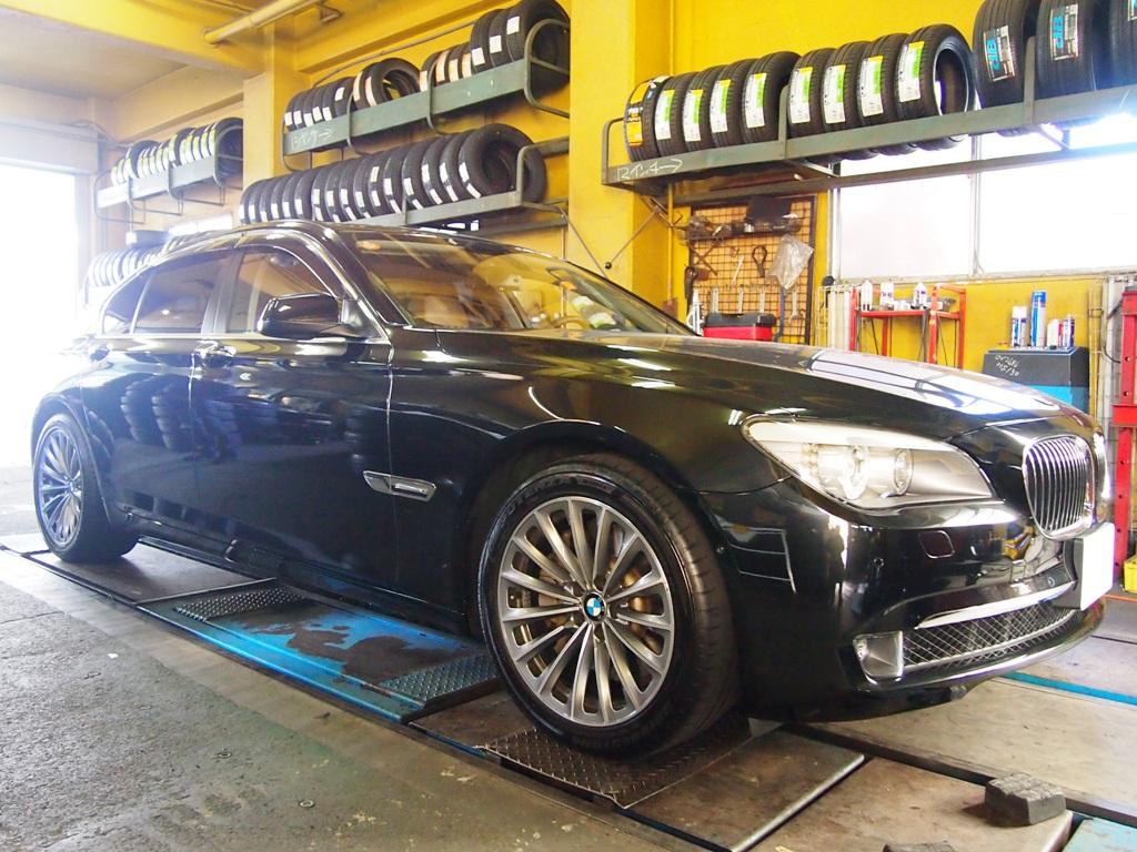 BMW・F01系アクティブハイブリッド7をローダウンです。_e0188729_1612024.jpg