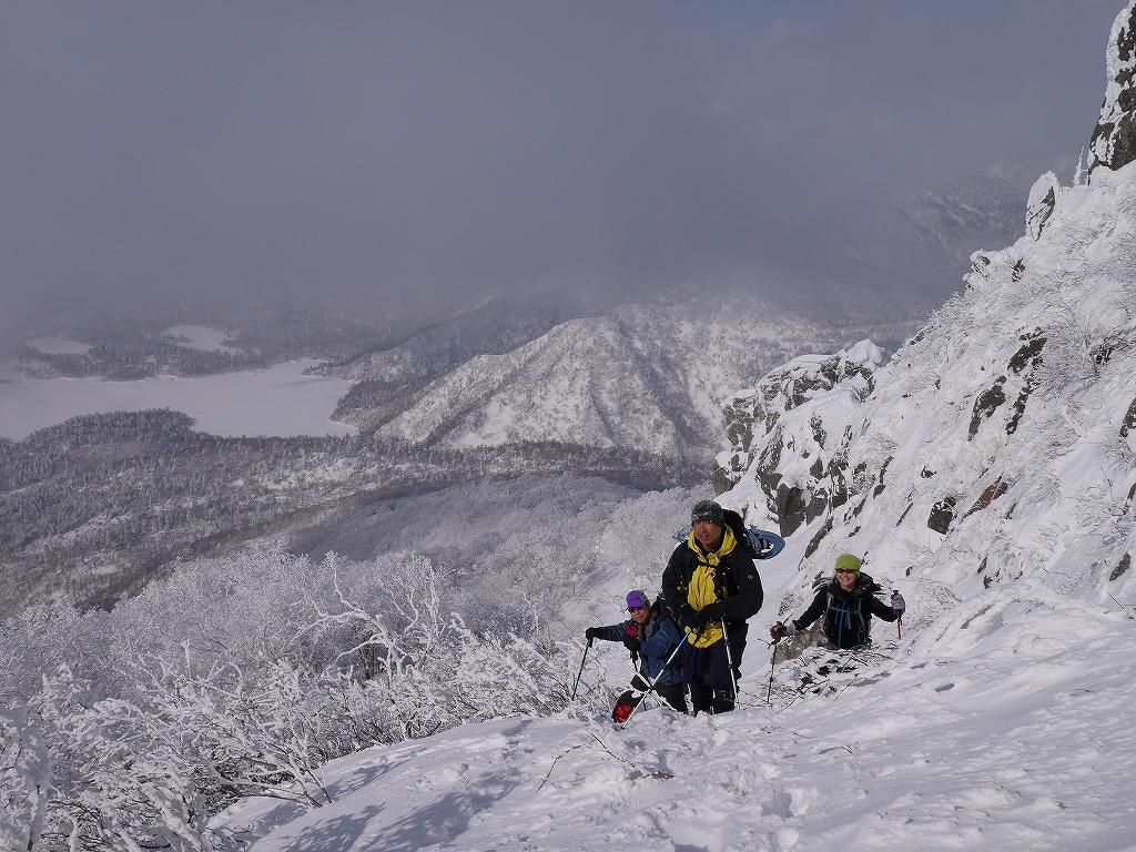 恵庭岳、2月12日-速報版-_f0138096_17445613.jpg