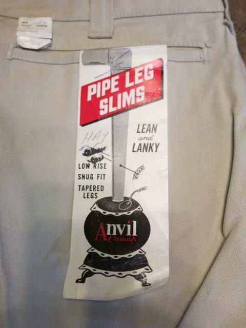 2/14(土)入荷!60'S デッドストック all cotton ツイル ANVIL 生成りパンツ!スラックスタイプ!_c0144020_18293042.jpg