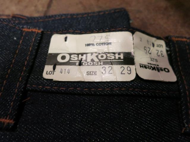 2/13(土)入荷!80'S デッドストックOSHKOSH ブーツカットデニムパンツ!_c0144020_1833140.jpg