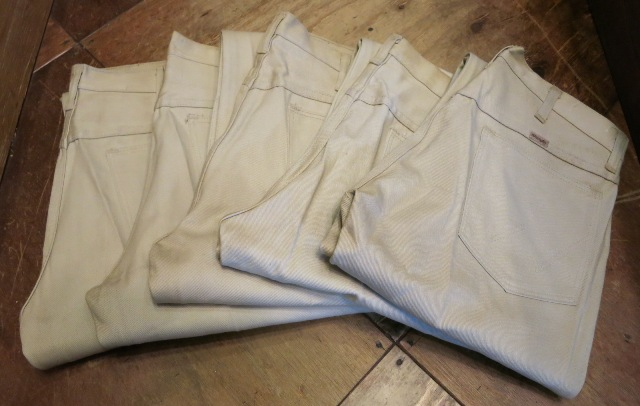 2/14(土)入荷!60'S デッドストック!all cotton Wrangler  ストレート ツイル 生成りパンツ!_c0144020_18385484.jpg