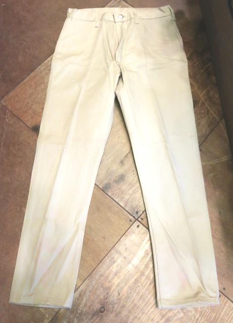 2/14(土)入荷!60'S デッドストック!all cotton Wrangler  ストレート ツイル 生成りパンツ!_c0144020_1839048.jpg