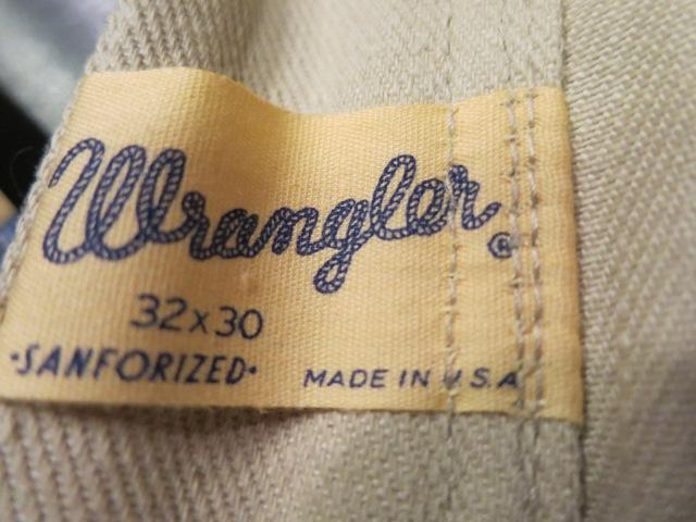 2/14(土)入荷!60'S デッドストック!all cotton Wrangler  ストレート ツイル 生成りパンツ!_c0144020_18392221.jpg