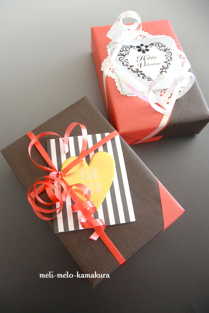 ◆Wrapping*St.Valentine\'s Day -rouge et noir-_f0251032_15321692.jpg