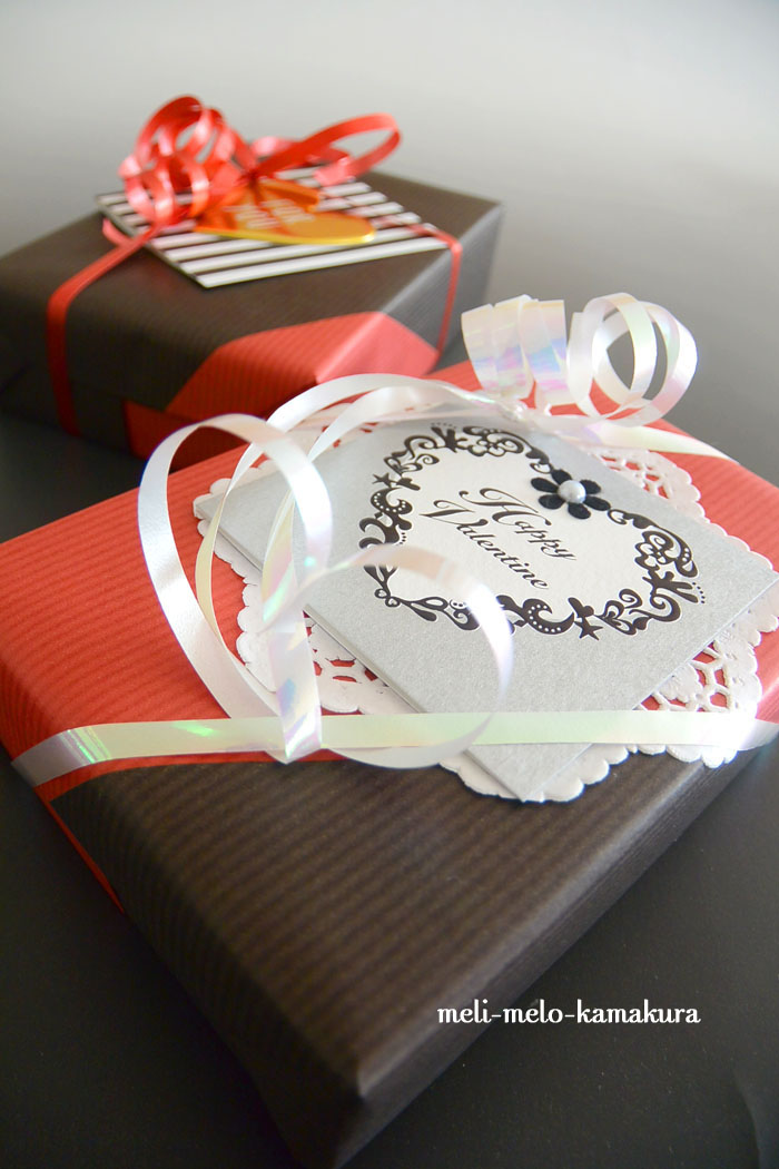 ◆Wrapping*St.Valentine\'s Day -rouge et noir-_f0251032_15474915.jpg
