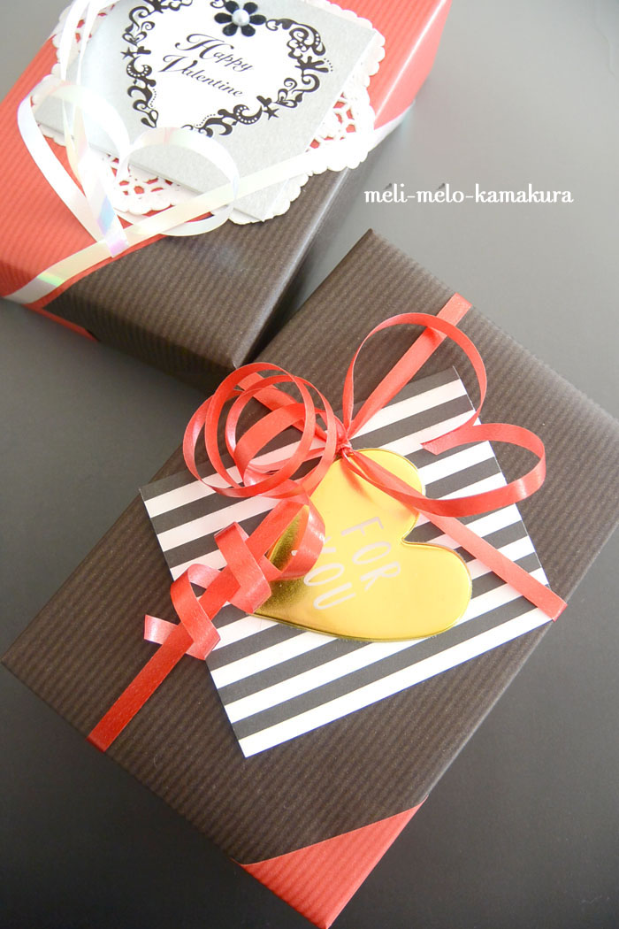 ◆Wrapping*St.Valentine\'s Day -rouge et noir-_f0251032_1551029.jpg