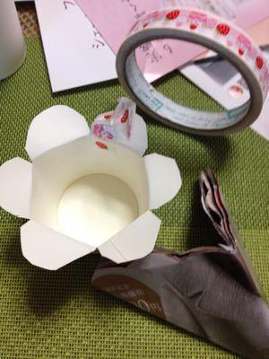 バレンタイン 手作りチョコを紙コップでラッピング!_e0086864_936786.jpg