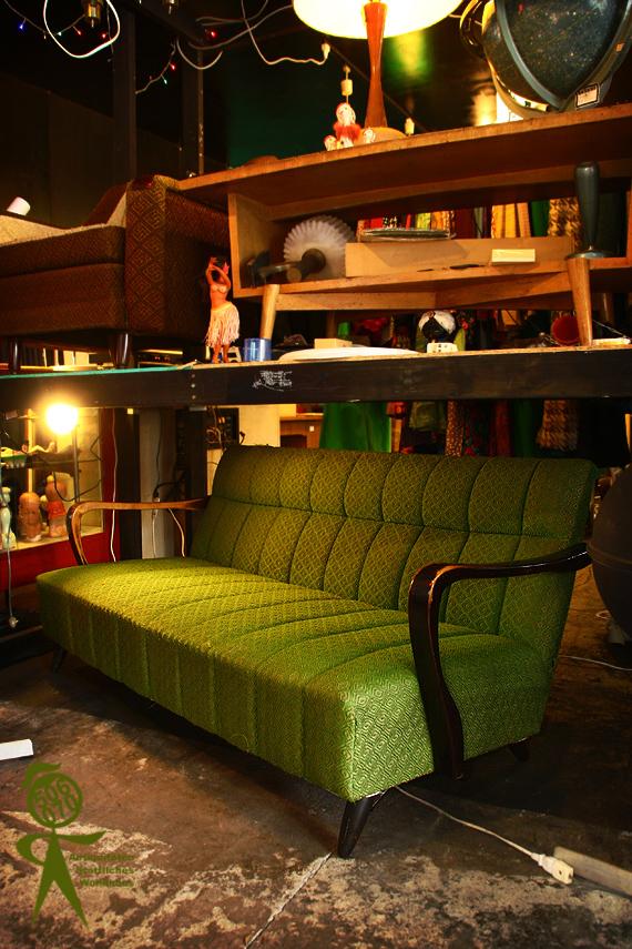 1960s Vintage グリーンの3人掛ソファ セール品_e0243096_2112742.jpg