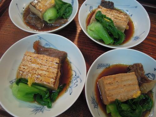 焼き豆腐 と 牛肉の すきやき風_e0116211_2121887.jpg