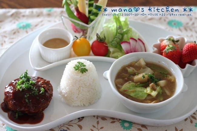 ひとりLUNCH ☆煮込み豆腐ハンバーグ♪_c0139375_15551788.jpg