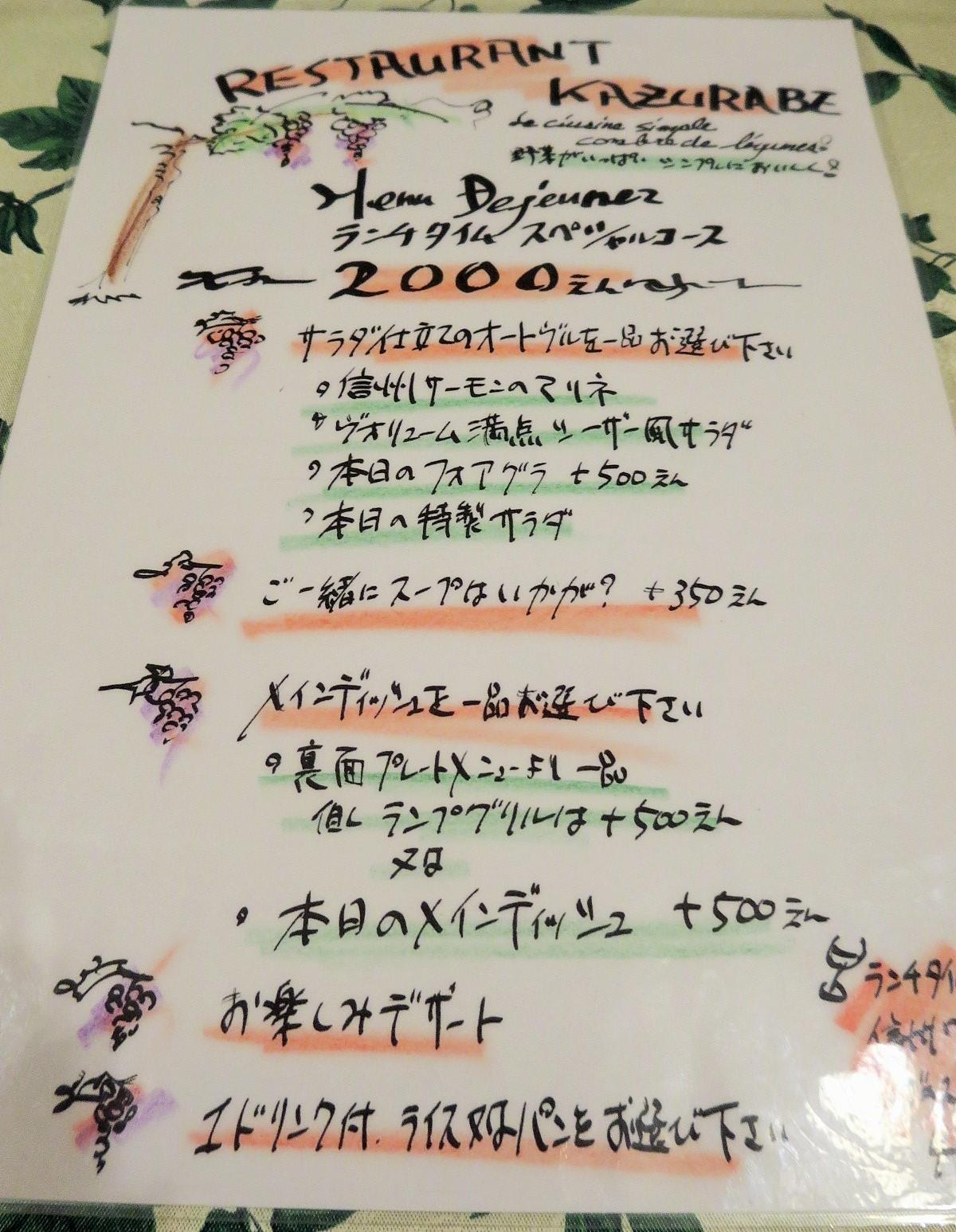 レストラン・カズラべのランチ☆2階のレストランシリーズ@旧軽_f0236260_2024549.jpg
