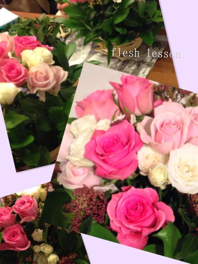 フレッシュパリのお花屋さんレッスンレポート_b0111306_18255901.jpg