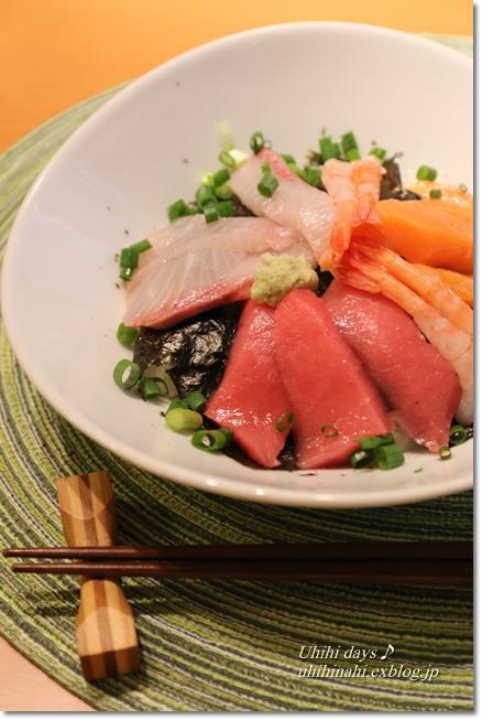 菜の花とあさりの白ワイン蒸し と 海鮮丼_f0179404_6473573.jpg