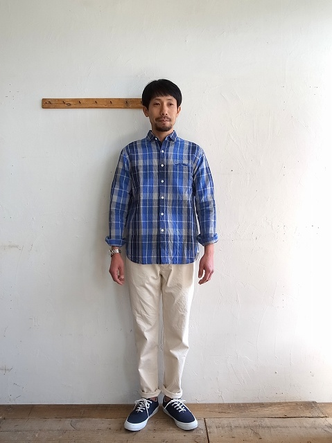 maillot コットンリネンチェックシャツ_b0079489_1839968.jpg