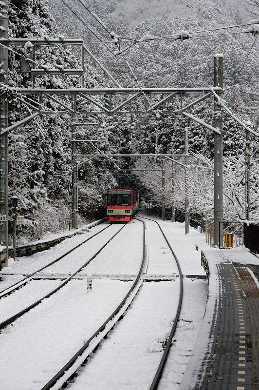 2015京の雪景色@叡電二ノ瀬駅_f0032011_19423057.jpg