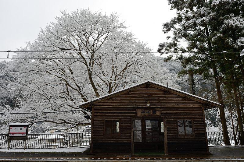 2015京の雪景色@叡電二ノ瀬駅_f0032011_194237100.jpg