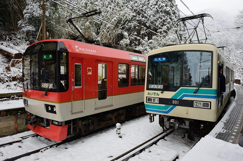 2015京の雪景色@叡電二ノ瀬駅_f0032011_1942617.jpg