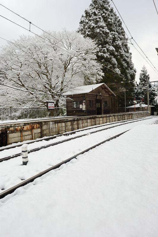 2015京の雪景色@叡電二ノ瀬駅_f0032011_1943847.jpg