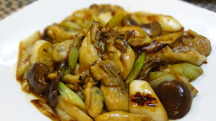牡蠣のオイスターソース炒め&おまけのちょこ(^_^;)_b0290816_11184832.jpg