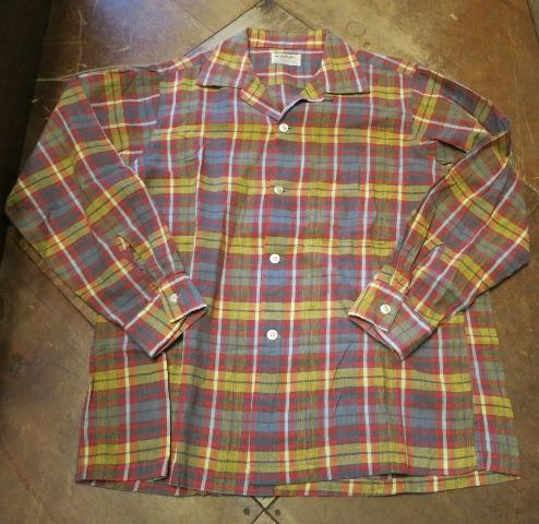 50'S ARROW ボックス オープンカラーコットンシャツ!_c0144020_18343073.jpg