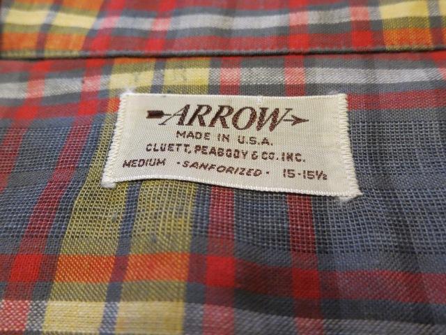 50'S ARROW ボックス オープンカラーコットンシャツ!_c0144020_18343982.jpg