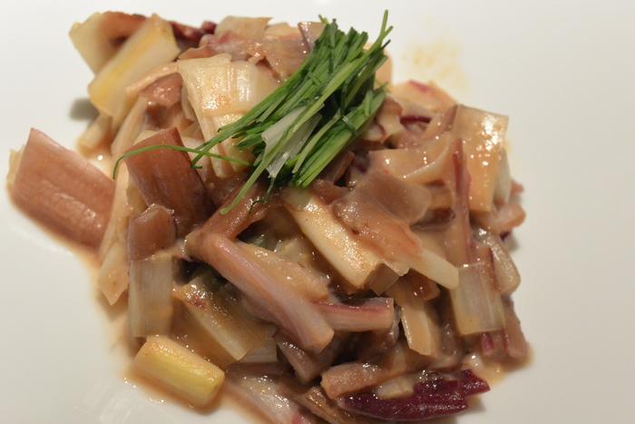 イタリアの野菜で和食作ってみた、ラディッキオのぬた!&2月20日(金)のランチメニュー_d0243849_0445932.jpg
