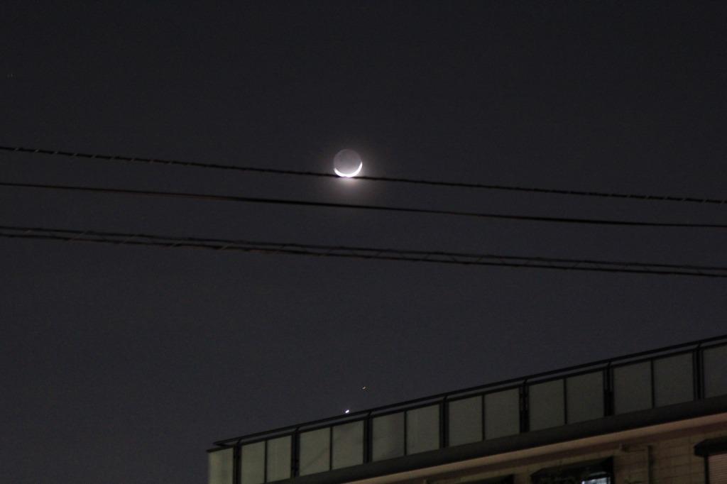 月と火星と金星と東柏ホーマーズ_f0225627_1992781.jpg