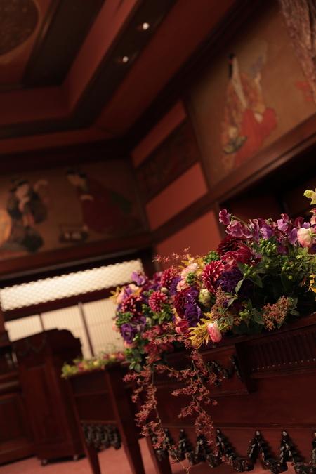 冬の装花 雅叙園 鷲の間様へ 大正浪漫風 高砂装花_a0042928_23563485.jpg