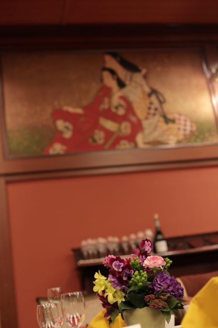 冬の装花 雅叙園 鷲の間様へ 大正浪漫風 高砂装花_a0042928_23573017.jpg