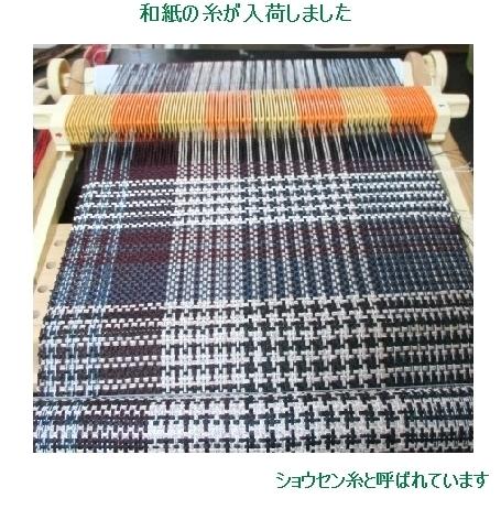 和紙の糸で二枚織り上がり~!!_c0221884_1738191.jpg