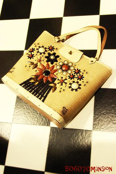 """●60\'s  Enid Collins vintage BAG \""""flower basket\""""●_e0243096_13562272.jpg"""