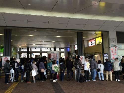 高知駅で餅つき_e0101917_09185785.jpg