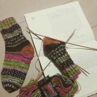 手編み靴下とSock Blocker_a0166626_17102359.jpg
