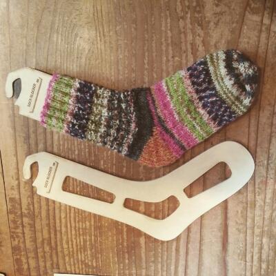 手編み靴下とSock Blocker_a0166626_1710556.jpg