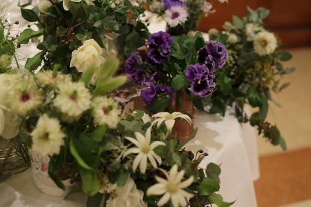 冬の装花 リストランテASO様へ ナチュラル&ヴィンテージ_a0042928_21143535.jpg