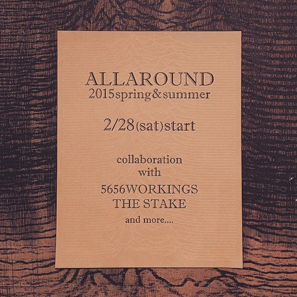 ALLAROUND 2015 spring&summer_f0126931_19474625.jpg