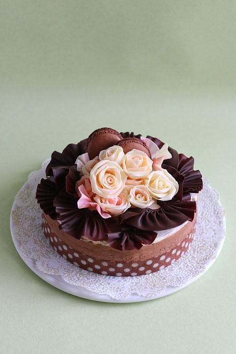 薔薇チョコムースケーキ_f0149855_14543279.jpg