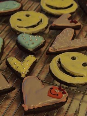 友チョコクッキー2015&Valentine\'s dinner_e0214541_6471238.jpg