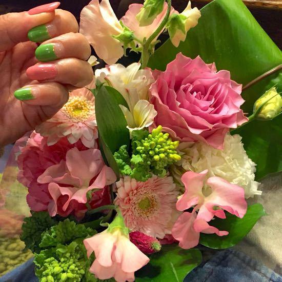桃色と新緑の春色!_b0204547_17584549.jpg